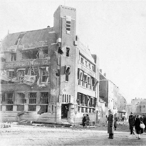 Oktober 1944 – Buitenhaven richting Visstraat