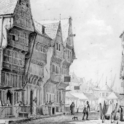 Kruisstraat met 'Het Klaverblad'