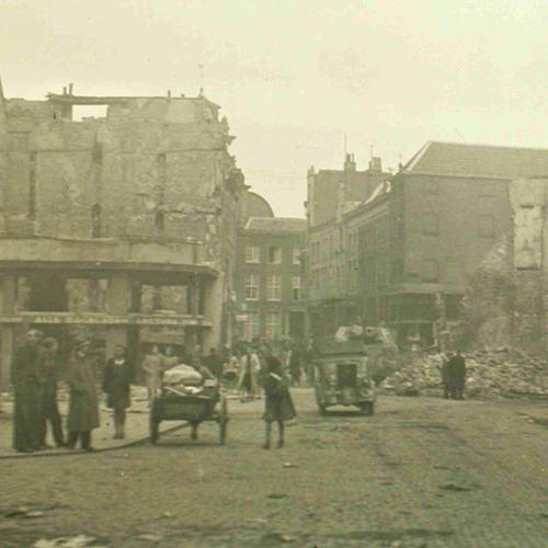 Oktober 1944 – Vismarkt richting Kruisstraat